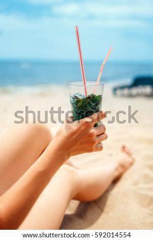mojito · koeling · drinken · mint · rum · water - stockfoto © yatsenko
