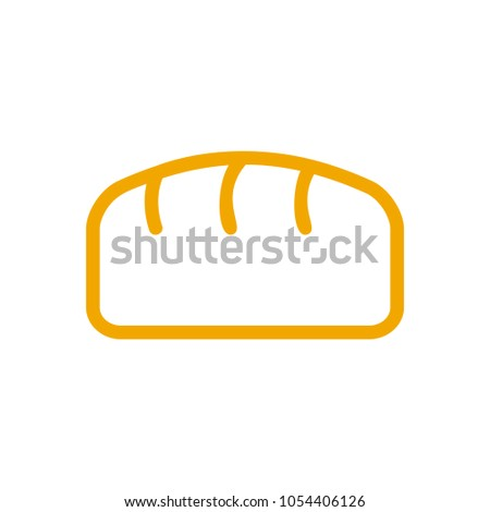 хлеб линия стиль хлебобулочные икона знак Сток-фото © popaukropa