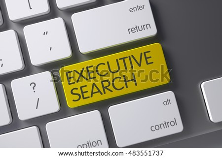 Keyboard with Yellow Button - Executive Search. 3D Illustration. Stock photo © tashatuvango