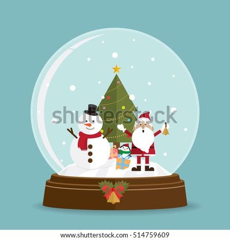 vektor · karácsony · illusztráció · mágikus · hó · földgömb - stock fotó © pikepicture
