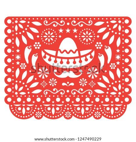 Vettore design mexican arte festa di compleanno carta Foto d'archivio © RedKoala