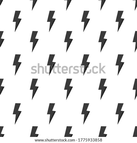 Lightning bolt seamless pattern. Grunge strike ornamental backgr Stock photo © Terriana