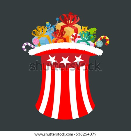 Santa Uncle Sam. American Christmas Claus. Winter cylinder. Patr Stock photo © popaukropa