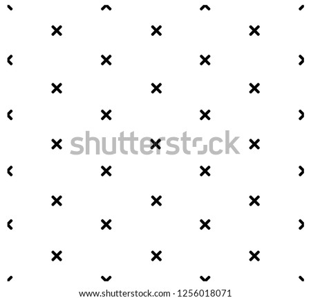 Hipster cross geometric pattern, abstract x shapes seamless vector background, monochrome decoration Stock photo © RedKoala