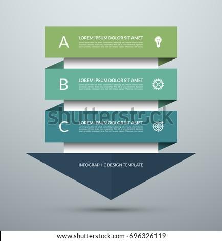 Flecha infografía vector plantilla opciones Foto stock © kyryloff