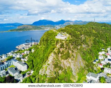 Foto stock: Verão · paisagem · Noruega · ver · montanha · norueguês