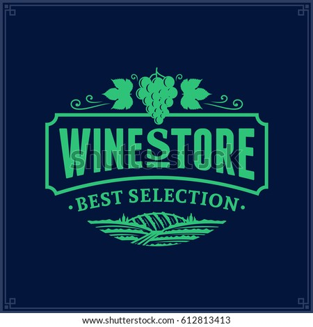 wine logos labels set winery wine shop vineyards badges collection retro drink symbol typograp stock photo © jeksongraphics