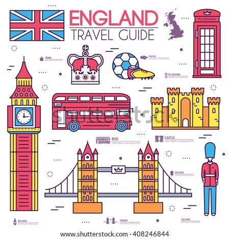 国 · イングランド · 旅行 · 休暇 · ガイド - ストックフォト © Linetale