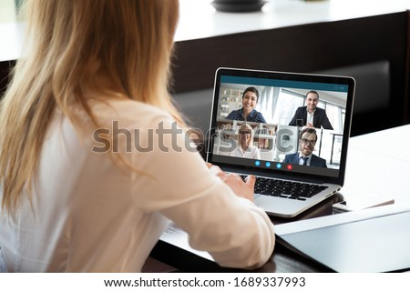 ビジネスチーム 会議 ラップトップを使用して 議論 一緒に 書類 ストックフォト © snowing
