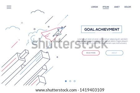 Doel prestatie moderne isometrische vector kleurrijk Stockfoto © Decorwithme