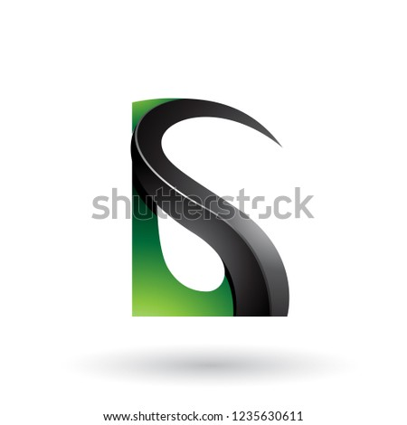 Zöld fekete fényes g betű vektor izolált Stock fotó © cidepix