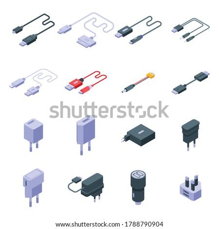 Usb cable alambre establecer vector móviles Foto stock © pikepicture
