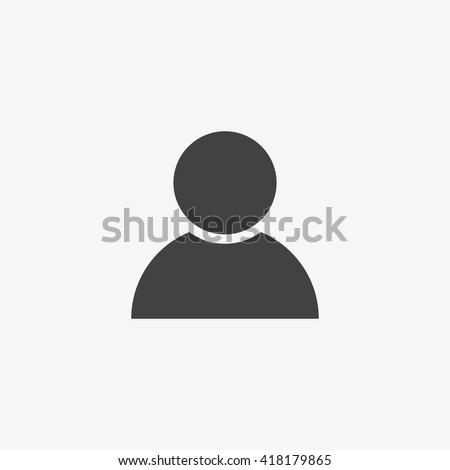 Czarny użytkownik ikona sylwetka symbol Zdjęcia stock © kyryloff