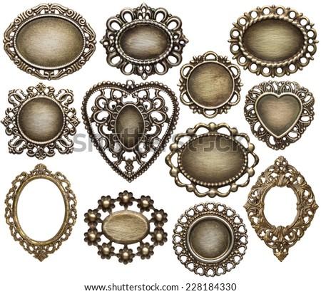 zilver · vintage · geïsoleerd · witte · geheime · inhoud - stockfoto © Lady-Luck