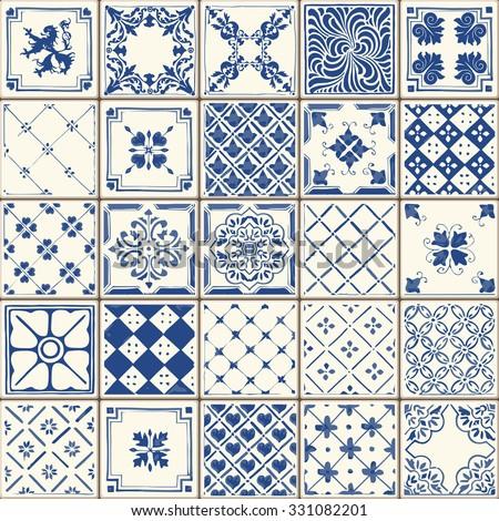 Geometrica piastrelle ceramica texture senza soluzione di continuità decorativo Foto d'archivio © ExpressVectors