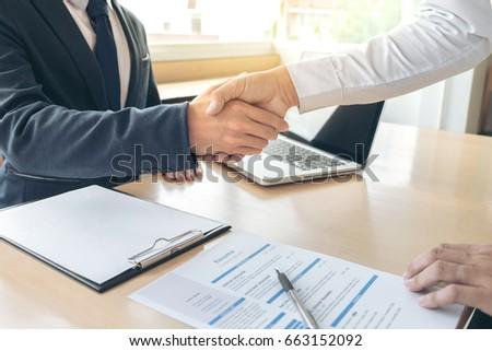 Trabajo solicitante entrevista bienvenida equipo gente de negocios Foto stock © Freedomz