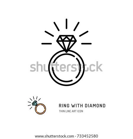 Diamant · Gliederung · einfache · schwarz · weiß · Symbol · Symbol - stock foto © kyryloff