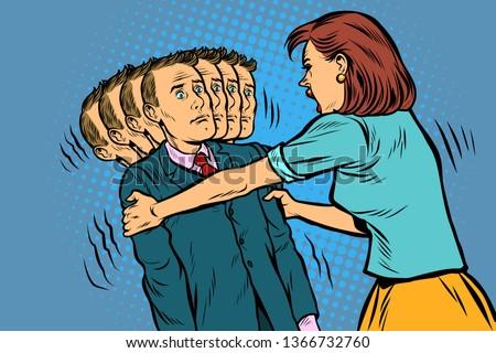 Család botrány feleség férj nők férfiak Stock fotó © studiostoks