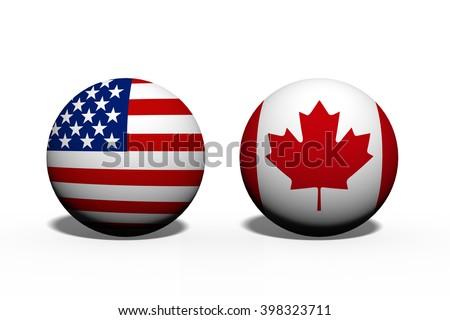Bayraklar Kanada Amerika Birleşik Devletleri Amerika bo iş Stok fotoğraf © Zerbor