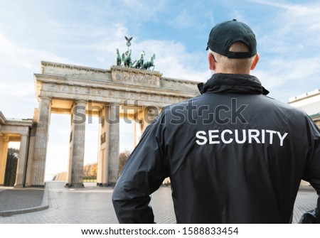 Senior Security Officer Standing In Front Of Brandenburg Gate Stock photo © AndreyPopov