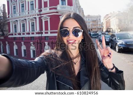 a female tourist with long black hair travels on tourist boats Stock photo © ElenaBatkova