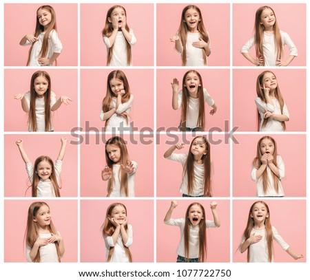 Emberi arckifejezések gyönyörű jómódú üzlet hölgy Stock fotó © vkstudio