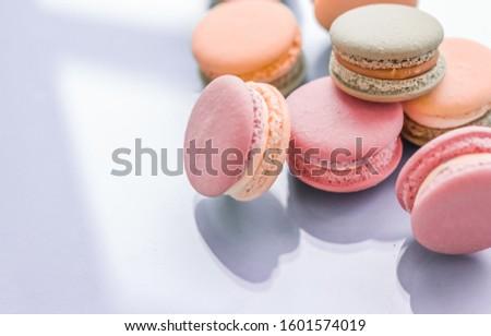 Französisch blau chic Kaffeehaus Dessert Stock foto © Anneleven