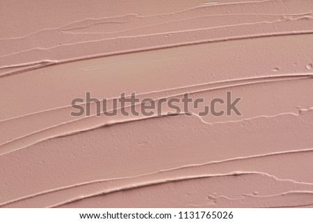 Cosmetics abstract texture background, beige acrylic paint brush Stock photo © Anneleven