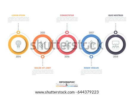 Vecteur infographie chronologie modèle de conception contenu Photo stock © ukasz_hampel