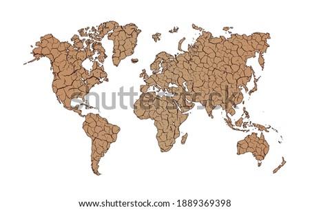 Ziemi globalne ocieplenie wektora planety suszy w górę Zdjęcia stock © designer_things