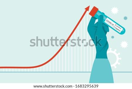 Exponential Growth Diagram Corona Virus Infographic Stock photo © limbi007