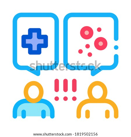reception at dermatologist doctor consultation icon vector outline illustration Stock photo © pikepicture
