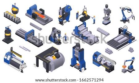製造 プロセス アイソメトリック アイコン ベクトル にログイン ストックフォト © pikepicture