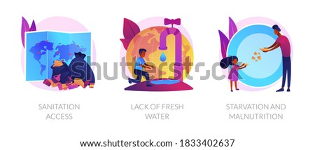 Starvation and malnutrition abstract concept vector illustration. Stock photo © RAStudio