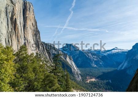 ヨセミテ · 風景 · 木 · 岩 · ヨセミテ国立公園 · カリフォルニア - ストックフォト © jeremywhat