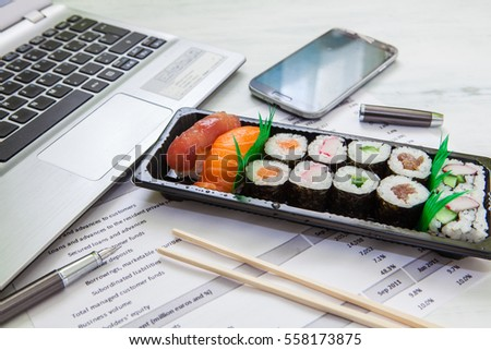Stock photo: sushi lunch