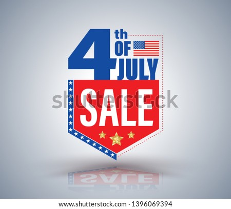 distintivo · fita · americano · dia · azul - foto stock © bharat