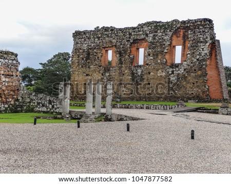 Панама старые испанский город разрушенный Сток-фото © dacasdo
