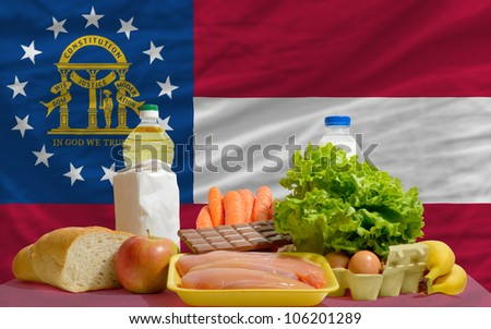 Complete Waved Flag Of American State Of Georgia For Background Foto stock © vepar5