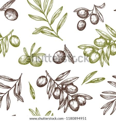 floral · modèle · olivier · résumé · nature · été - photo stock © hermione