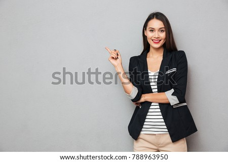 young attractive smiling business woman isolated Stock photo © juniart