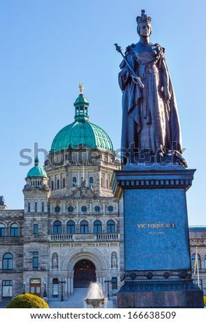 fountain queen statiue provincial capital legislative buildiing stock photo © billperry