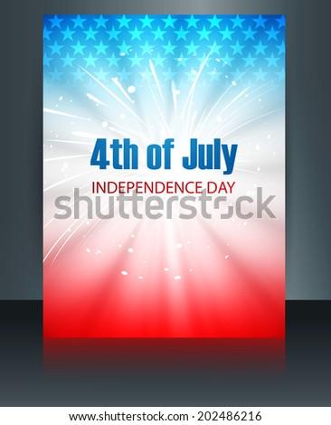 Bandeira americana modelo dia apresentar reflexão folheto Foto stock © bharat