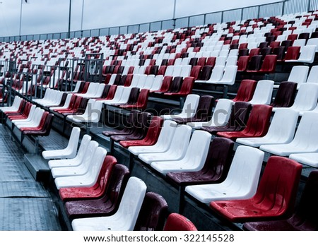 empty green grandstand seating in a regular symmetrical pattern Stock photo © chrisga
