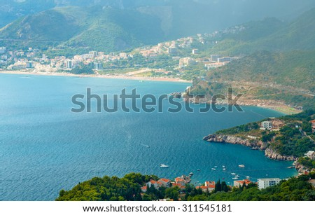 The picturesque panorama of the Adriatic coast near the island o Stock photo © vlad_star