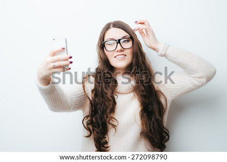 Selfie, Beautiful girl taken pictures of her self by infinity sw Stock photo © Victoria_Andreas