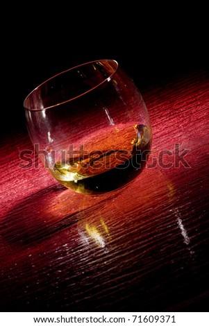 Whiskey on red glasstable stock photo © Francesco83