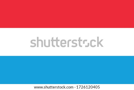 Illustration of EU Flag and flag of Luxembourg, isolated white Stock photo © tussik