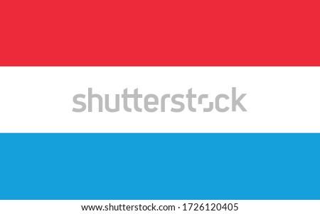 иллюстрация Евросоюз флаг Люксембург изолированный белый Сток-фото © tussik