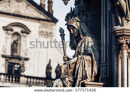 Personification of the Faculty of Arts, decoration of the statue Stock photo © Kirill_M
